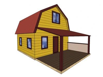 Проект каркасно-щитового дома «Бегуницы»