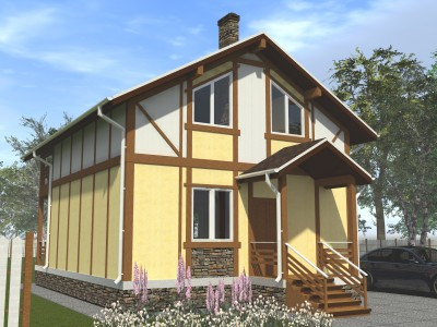Проект каркасно-щитового дома «Карташевская»