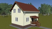 Проект дома из бруса «Журавлево»