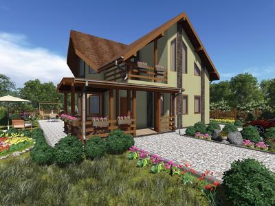 Проект дома из бруса «Ефимовский»