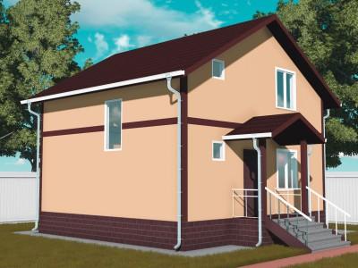 Проект каркасно-щитового дома «Кингисепп»