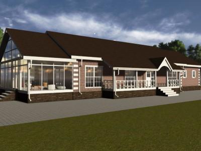 Проект каркасно-щитового дома «Дятлово»