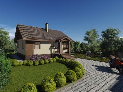 Проект каркасно-щитового дома «Глобицы»