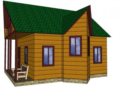 Проект дома из бруса «Вещево»