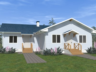 Проект каркасно-щитового дома «Ивангород»